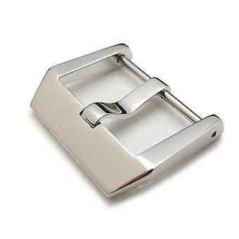 Strapcode watch buckle 24mm high quality 316l stainless steel screw type 4mm tongue buckle, brushed finish