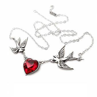 Alchemy - swallow heart - necklace