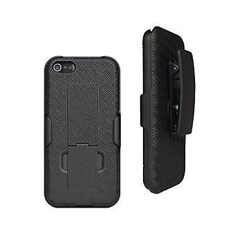 Rajoittamaton Cellular kickstand Shell & Holster iPhone 5/5S/SE-musta