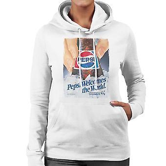 Pepsi verwelkomt de wereld vrouwen ' s Hooded Sweatshirt