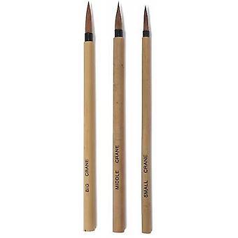 Crane Chinese Painting Brush Set of 3