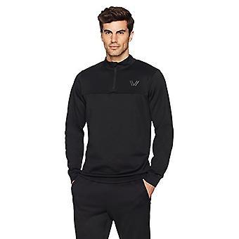 Peak Velocity Men's Quantum Fleece 1/4 Zip Athletic-Fit Top, black, XXX-Large