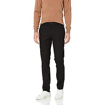 Merkki - Goodthreads Men's Skinny-Fit Ryppytön Mekko Chino Pant, Musta Pinstripe, 32W x 32L