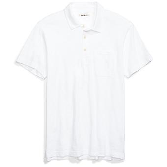 Goodthreads Men's Lightweight Slub Pocket Polo Camicia, Bianco brillante, X-Large