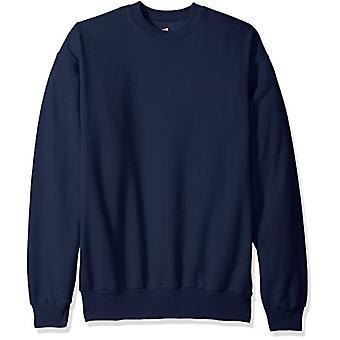 Hanes Men's Ecosmart Fleece Sweatshirt, Navy, Medium