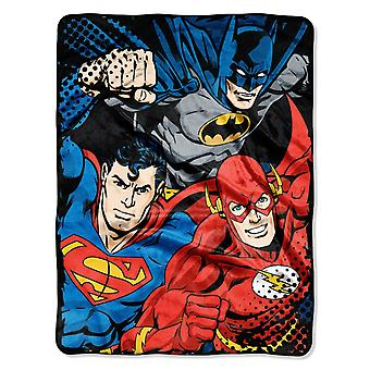 Micro Raschel Throws DC Comic Justice League Trio Resuable Canvas