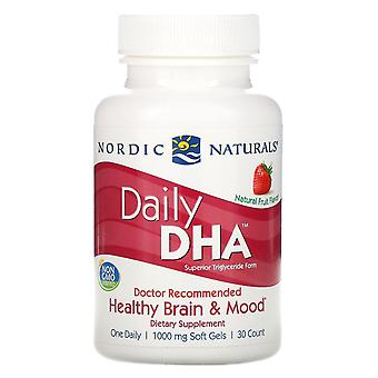 Nordic Naturals, Daily DHA, Natural Fruit Flavor, 1.000 mg, 30 Zachte Gels