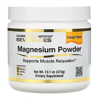 California Gold Nutrition, Magnesium Powder Beverage, Orange Flavor, 13.1 oz (37