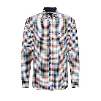 Fynch-Hatton Fynch-hatton Long Sleeved Button Down Shirt Multi Check