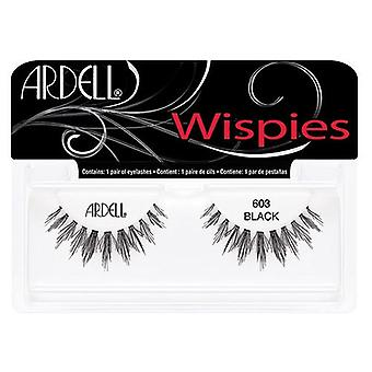 Ardell Wispies Cluster Lashes - 603 Black - Invisible Band Natural Falsies