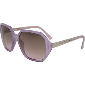 Gafas de sol Unisex Rectangular Cat. 3 púrpura/marrón (14-507-C)