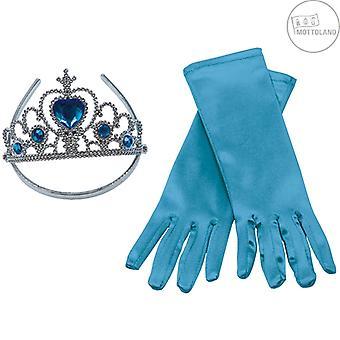 Prinsesse Sæt 2stk. Blue Kids Piger Carnival Hand School Crown Diadem