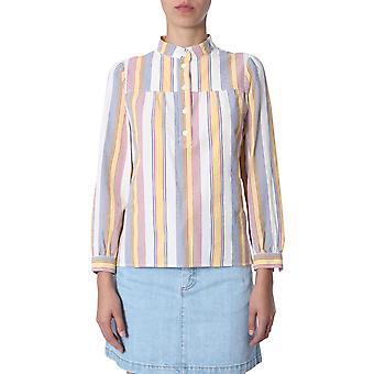 A.p.c. Codaof13274multicolor Women's Multicolor Cotton Blouse