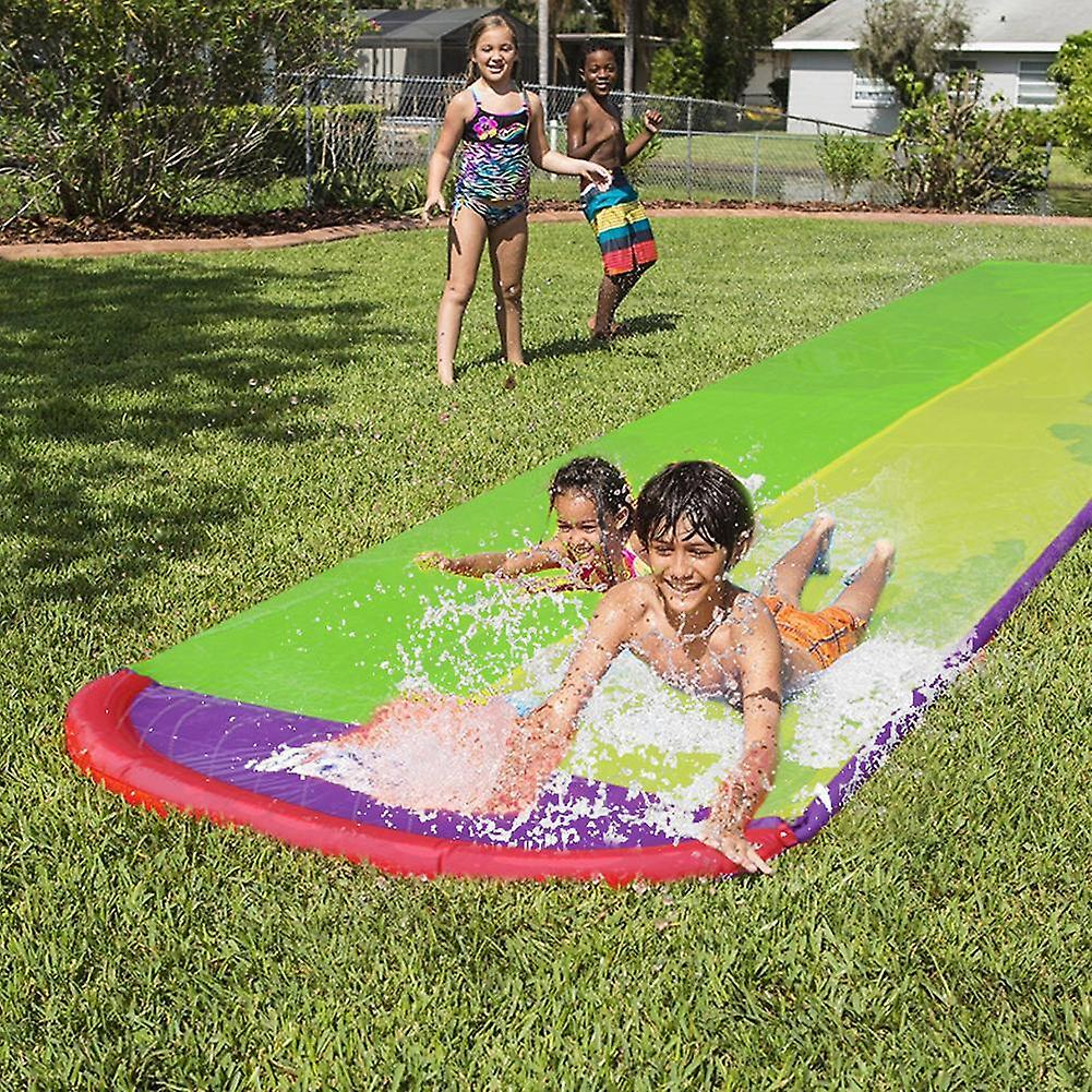 4.8m Giant Surf 'n Double Water Slide Lawn Water Slides ...
