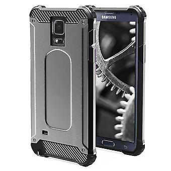Shell voor Samsung Galaxy Note 4 - Armor Grey Protection Case