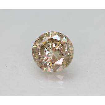 Cert 2.16 قيراط يايل براون SI1 جولة رائعة المحسنة الماس الطبيعي 7.88mm