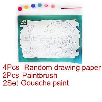 Child Educational Drawing Set  - Art Watercolor Gouache Coloring Diy Handmade