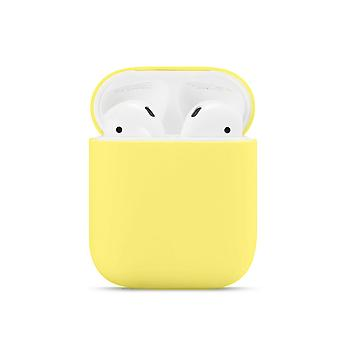 Solid Color Silicone Airpods Case Cover For Apple Wireless Earphone Protective Case