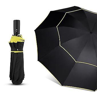 120cm automaattinen kaksinkertainen iso sateenvarjo - sade naiset 3-taitkeen tuulenpitävä