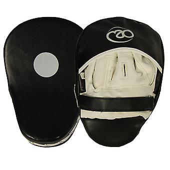 Fitness Mad Curved Synthetic Leather Focus Pads Black/White