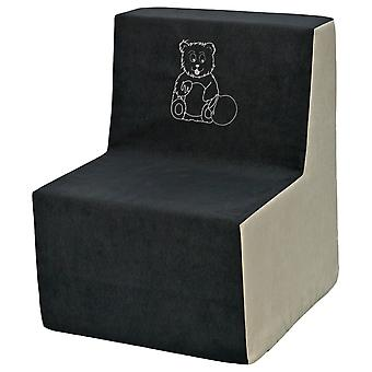 Kinderstoel schuim grijs & beige