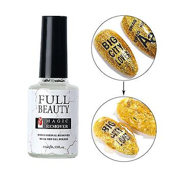 Gel Nail Polish Burst Magic Remover Soak Off Sticky Layer Clean Degreaser Lint
