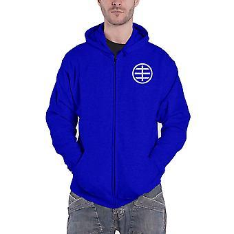 Husker Du Hoodie Circle Band Logo new Official Mens Blue Zipped