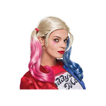 Womens Harley Quinn Wig Suicide Squad Halloween Fancy Dress Costume Accessory