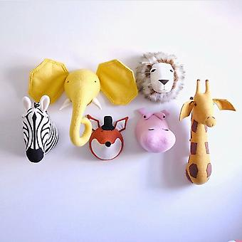 3d Animal Head Wall Mount Stuffed