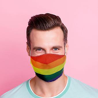 Rainbow Herbruikbare gezichtsbedekking - Groot X 1-pakket