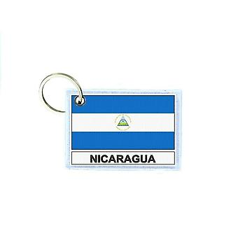 Porte cles cle clefs imprime double face drapeau NIC nicaragua
