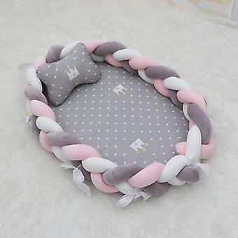 Portable Crib Baby Nest, Bed Weave Cot Cradle