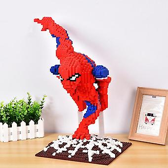 Diy particule mici Mini Diamond asamblate Spider-man Building Block Jucărie