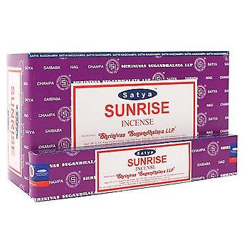 Satya Sunrise Incense Sticks (Box Of 12 Packs)
