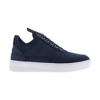 Filling Pieces Low Top Plain Lane Nubuck Blue 29726291925 shoe
