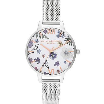 Olivia Burton Ob16ar09 Artisan Rose Gold & Silver Mesh Ladies Watch