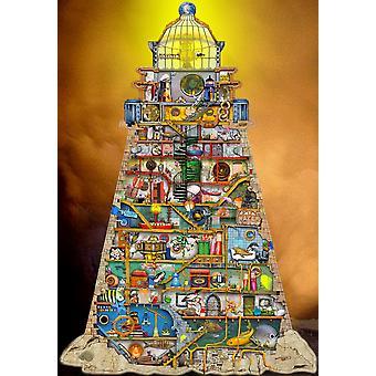 Leuchtturm-Plakat-Druck von Colin Thompson