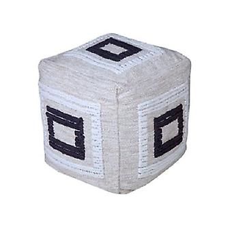 Spura Kotitekoinen laatikko kehystetty harmaa ottomaanien jalka lepo pouf pehmeät istuimet