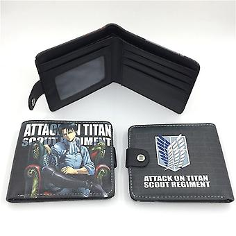 PU leather Coin Purse Cartoon anime wallet - Attack on Titan #356