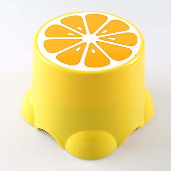 Fruit Pattern Living Room Non-slip Bath Bench/cartoon Child Stool Plastic Pp
