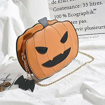 Halloween Pumpkin Crossbody Bag Women Handbag Tote Trick Or Treat Little Devil