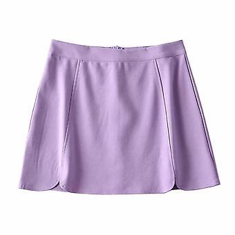 Bm Style High Waist Flower Płatek Krótka spódnica Kobiety's Nowe Lato Sexy Split Leg