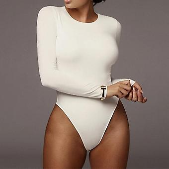 Winter Bodysuit Women Long Sleeve Bodycon One-piece Female Romper
