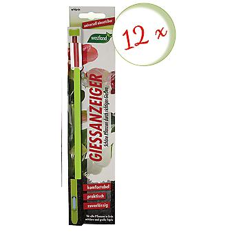 Sparset: 12 x WESTLAND® watering indicator for potting soil, 26 cm apple green