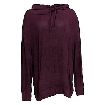 N'importe qui femmes-apos;s Top Brushed Hacci Cowl Neck Pullover Rouge A310152