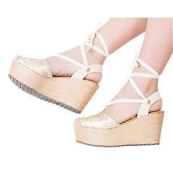 Espadrille Sandals Silvia Cobos Lace Up Gold