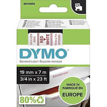 Merkintöjä nauha DYMO D1 45805 nauhan väri: valkoinen fontin väri: punainen 19 mm 7 m