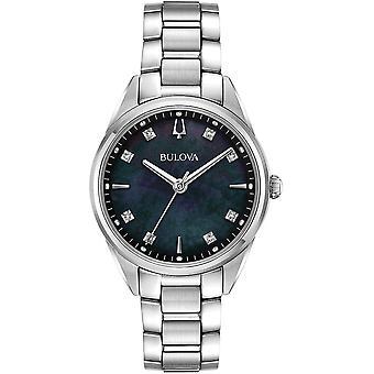 ブローバ 96P198 女性&アポ;s サットンブラックダイヤルダイヤモンド腕時計