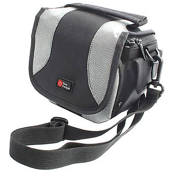 Duragadget black & silver carry case - compatible with kodak pixpro az252 | az365 | az521 | az522 |