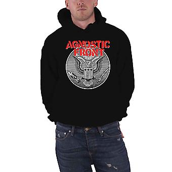 Agnostic Front Hoodie Against All Eagle Logo new Official Mens Black Pullover